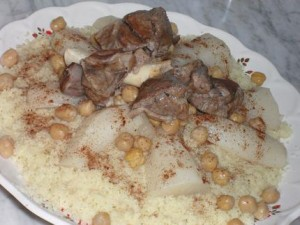 Couscous sauce blanche et navets d'Alger (Celui des fêtes)