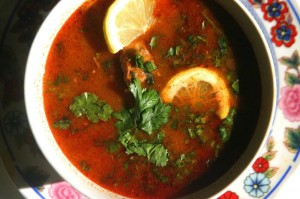 Chorba frik (Soupe au blé concassé)