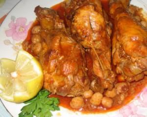 Chtitha de poulet (ragoût de poulet à l'Algéroise)