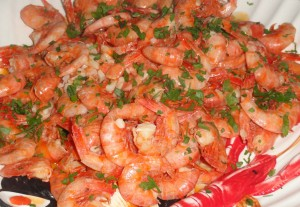 Crevettes sautées (Qamron Meqli)