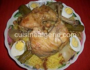 Rechta au poulet, plat algérien