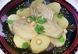 Tajine de fenouil en sauce blanche à la cannelle (recette algéroise)
