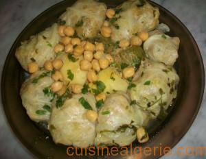 Dolma de chou, courgettes et pommes de terre