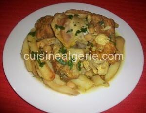Tajine de chou-fleur poulet et pommes de terre