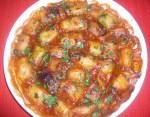 Roulades d'aubergine en sauce rouge
