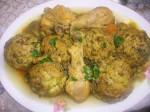 Dolma karnoun (fonds d'artichauts farcis en sauce)