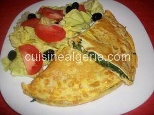 Omelette aux épinards