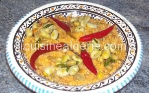 Couscous végétarien aux fèves fraîches