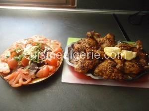 Cuisses de poulet  grillées au sésame