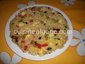 Omelette aux pâtes