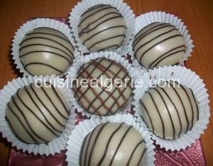 Boules de chocolat fourrées