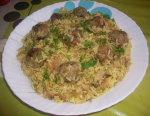 Riz au chou et boulettes de viande hachée