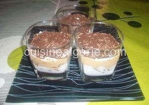 Verrines cacaotées genre Tiramisu