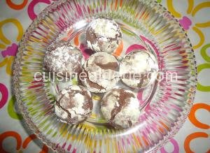 Boules au chocolat enrobées de sucre glace