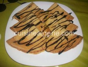 Crêpes à la crème d'oranges et ganache au chocolat