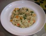 Risotto aux légumes et fromage