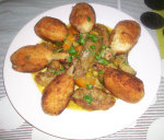 Tajine de pilons de poulet panés aux d'artichauts