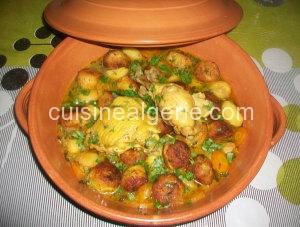 Tajine de chou-fleur et petites pommes de terre