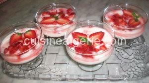 Verrines fraise-yaourt