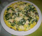 Omelette aux épinards et champignons