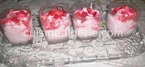Crème glacée aux fraises