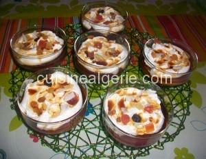 Crème aux caprices et sauce caramel