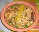 Berkoukes aux épinards et achedlouh (kadid)