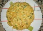Frites omelette au thon