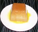 Flan au chocolat en poudre et caramel