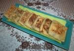 Crêpes fourrées aux épinards et fromage
