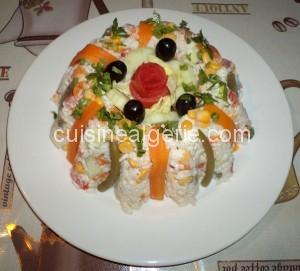 Salade de riz à la macédoine de légumes