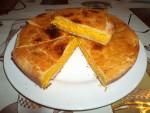 Tourte à la carotte, béchamel et fromage