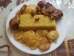 Pommes de terre et riz au four