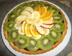 Tarte au chocolat et fruits