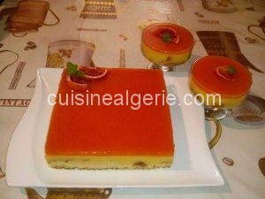 Gâteau miroir à l'orange sanguine