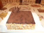 Gâteau au chocolat et bananes
