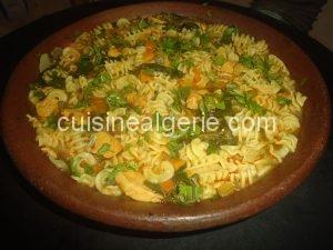 Pâtes aux légumes à l'algérienne