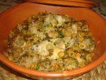 Tajine de boulettes d'épinards