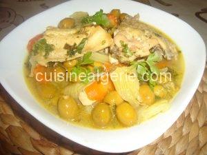 Tajine aux olives et fenouils