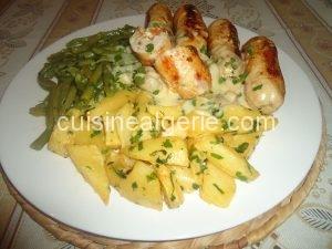 Ballottines de poulet aux carottes et fromage
