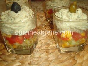 Verrines à la crème d'artichauts au fromage frais