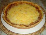 Pizza à la sauce blanche