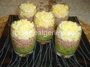 Salade de courgettes en verrines