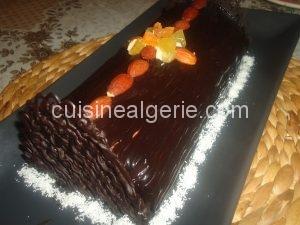 Gâteau glacé à la mousse au chocolat