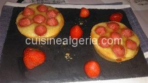 Tartelettes aux fraises et à la crème d'amandes