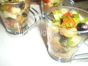 Salade de poivrons en verrines