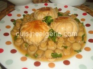 Paupiettes de poulet aux champignons