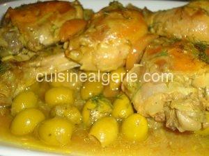 Poulet aux olives et citron confit