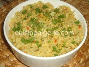 Riz pilaf aux légumes