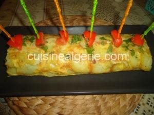 Roulé de pommes de terre aux épinards